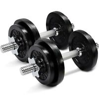 Yes4All 60 lb Adjustable Dumbbell Weight Set - Cast Iron Dumbbells