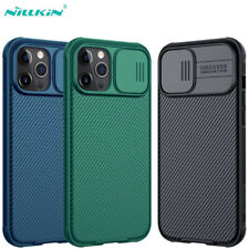 NILLKIN For iPhone 12 Mini Pro Max Case Camera Lens Slide Protector Bumper Cover