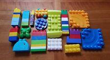 Lot of 45 Mega Bloks Assorted Shapes and Sizes