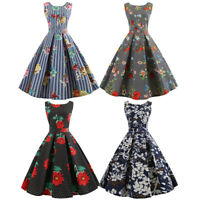 Cheap 50'S 60'S Rockabilly Dress Vintage Swing Pinup Retro Housewife Party Dress