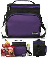 Adult Lunch Box Insulated Bag Large Cooler Tote Adjustable Strap Unisex Purple