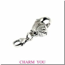 AUTHENTIC STERLING SILVER TROLLBEADS 10102 Big Fish Lock,