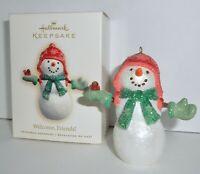 Hallmark Keepsake Christmas Ornament 2007 WELCOME FRIENDS! Snowman Cardinal  H9