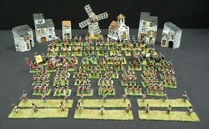 Painted Napoleonic 15mm Metal Figurines 70+ Pieces, Cavalry/Infantry/Cannon