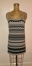 Missoni Target Black White Chevron Sweater Tank Dress Sz Small