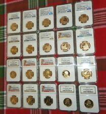 20 piece SACAGAWEA Proof Coin Set NGC PF 70 Ultra Cameo w/ SP 70 Enhanced Finish