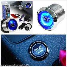 12V Blue LED Car Engine Start Push Button Switch Ignition Starter Kits For Mazda
