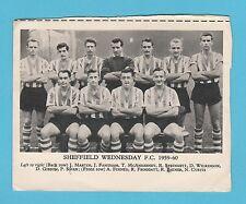 FOOTBALL  -  ANONYMOUS  FOOTBALL  TEAM  CARD  -  SHEFFIELD WEDS.  F.C. - 1959-60