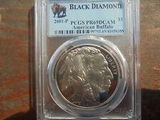 2001 buffalo commemorative silver dollar PCGS PR 69 DCAM BLACK DIAMOND