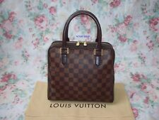 Auténtico Louis Vuitton Damier Ebene Lona Triana Bolso de mano N51155