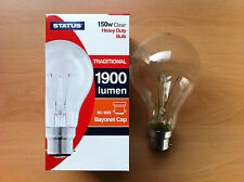 150w Watt BC B22 Bayonet Cap Push In Clear Incandescent Light Bulb Lamp Bulbs