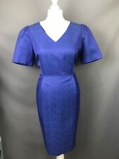 5fb4de617a Pure Collection Size UK 14 Cornflower Blue Sheath Dress Cotton Silk Blend  Lined