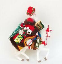"RARE 1991 SIGNED GLADYS BOALT SANTA ON HORSEBACK CHRISTMAS ORNAMENT ~ 9"""