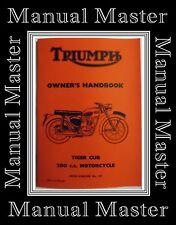 Triumph Tiger Cub 200 C.C. Models T22 T20M T20S/H Owner's Handbook Manual