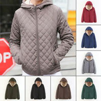 US Women Winter Warm Thicken Hooded Coat Jacket Quilting Overcoat Outwear S-2XL