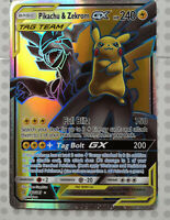 Pokemon card Pikachu & Zekrom GX 162/181 Holo FULL ART Team Up Mint PROXY CARD