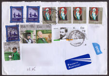 Ireland Eire Registered cover sent to the U.K. Christmas 2001 and An Post stamps