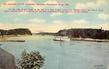 Penobscot River Maine Camden Hampton Narrows Scenic Antique Postcard K24645