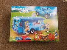 PLAYMOBIL 9502 FunPark Pickup Truck Caravan Camper Set Camping Holiday FREE P+P