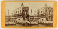 Venezia Palais Ducale Italia Foto Stereo PL56L1n Vintage Albumina c1865