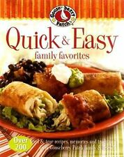 Gooseberry Patch Quick & Easy Family Favorites Gooseberry Patch Hardcover