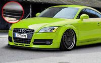 Spoilerschwert  Frontspoiler Lippe ABS für Audi TT 8J mit ABE schwarz glänzend