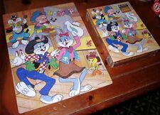LOONEY TUNES HOEDOWN jigsaw puzzle Honey Bunny & Bugs banjo 1983
