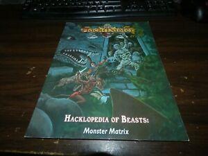 Hackmaster: Hacklopedia of Beasts: Monster Matrix