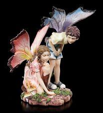 Elfos FIGURAS - joven y Chica haciendo Jugar - Hadas Niños Estatua fantasía