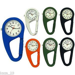 Ravel Clip On Doctors Nurses Paramedic Unisex Carabiner Pocket Fob Watch