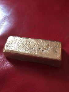 BRASS  Ingot Bar 1kg (hand made in cornwall)
