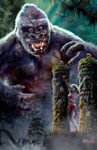 KING KONG 1933 Art Print Poster horror movie monster art Scott Jackson