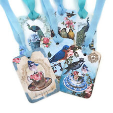 NEW Bird Gift Favour Tags- Bird Lover-Book Club-Paris Peacock-French Crown Bird