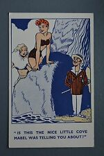 R&L Postcard: William Foster 6 Comic, Dirty Old Man with Cane, Bathing Beauties