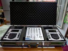 COPPIA Pioneer CDJ100s CD Player + mixer STANTON pro SMX 401 + Fly CASE