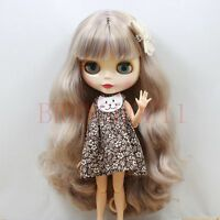"""12"""" Neo Blythe doll nude Special zone Jointed body Long bang mixed blond hair"""