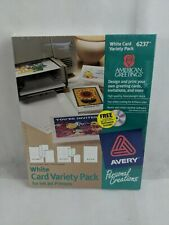 Avery White Card Variety Pack for Ink Jet Printers #6237