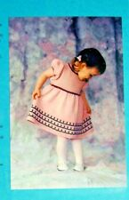 PRETTY FLOWERS BABY DRESS in 3 SIZES to KNIT in WORSTED WT YARN by FIBER TRENDS