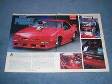 "1989 Dodge Daytona Vintage Pro Street Article ""Mo-Purist"""