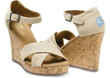 Toms Womens Strappy Wedge  - Sierra - Size 10 - New with box