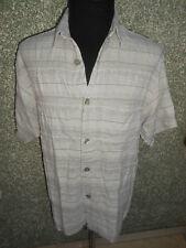 180 Z3 SIGNUM Camisa De Hombre Talla M We ISS gris con patrón manga corta