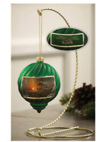 Sharing the Solitude Green Christmas Ornament Terry Redlin