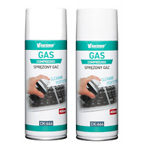 2x 400ml Air Duster Spray Gas Cleaner 800ml Compressed Dust Blower Easy Clean UK