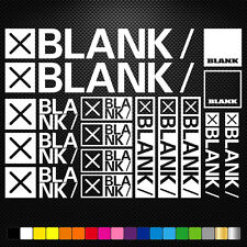 Blank Bikes Vinyl Decal Stickers Sheet Frame Cycles Cycling Bicycle Mtb Road