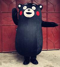Hot Japanese Kumamon Bear Kumamoto Mascot Costume Cosplay Character Fancy Dress