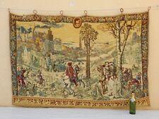 VINTAGE Francese Muro Arazzo Da Appendere/(199X133cm)