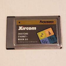 Xircom PS-CEM28 PCMCIA Performance Series CreditCard Ethernet+ MODEM 28.8
