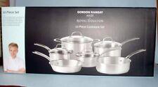 Gordon Ramsay/Royal Doulton MAZE 10-Piece Stainless Cookware Set+Glass Lids New