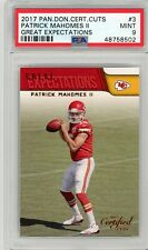 2017 Certified Cuts Patrick Mahomes Great Expectations Rookie RC PSA 9 Chiefs