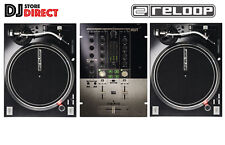 RELOOP RP-7000 MK2 MKII PRO DJ Turntables Black + RELOOP KUT Battle mixer BUNDLE
